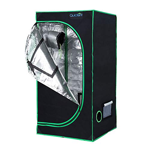 Quictent Eco-friendly 24 x 24 x 48 Inches Reflective Mylar Hydroponic Grow Tent