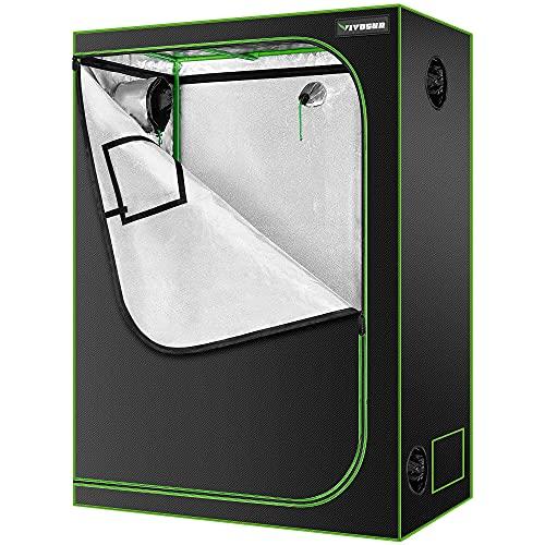 VIVOSUN 48″x24″x60″ Mylar Hydroponic Grow Tent